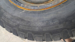 Snow Tires and rims 235/70/15