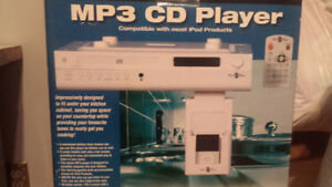 Under the counter mp3 cd player in white***brand new in box