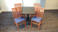 RESTAURANT QUALITY TABLE AND CHAIR SETS FOR SALE