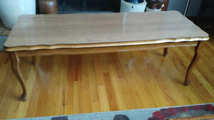 1950s Vintage Wooden Coffee Table - 4 Feet Long