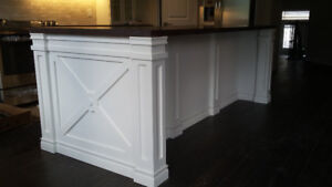 Custom made kitchen islands and cabinetry