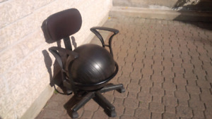 Ergonomic office chair with exercise ball