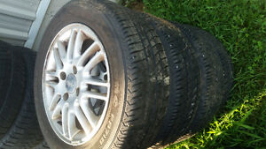 Ford Focus and Fiesta aluminum rims and tires