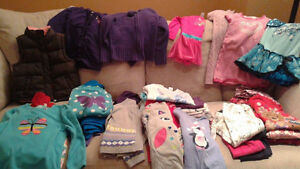 Size 5 Girls Winter Clothes Smoke Free/Pet Friendly 45 Pieces