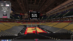 3 tickets to Raptors Cavaliers game Oct 28 section 103 row 22