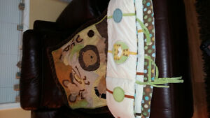 Jungle themed bedding and bumpers