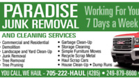 JUNK REMOVAL & MOVING SERVICES CALL 249-879-6600