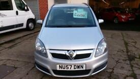 VAUXHALL ZAFIRA 1.8 CLUB 7 SEATER 80K MILES HISTORY 2 OWNERS V/CLEAN 57 REG