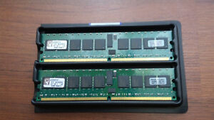 KINGSTON KTH-MLG4SR/4G 4GB; Kit of 2; 400MHZ; PC2-3200 ECC DDR2