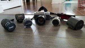 Magnifique appareil photo de marque Minolta serie SR T 101