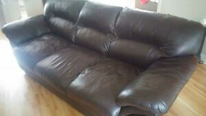 Fauteuil 3 Places en Cuir / 3 Seat Leather Couch