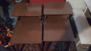 2 end tables brown in color