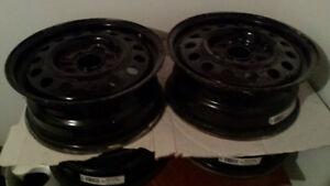 2 SETS,   16 INCH, STEEL RIMS FORD FOCUS  & 15 INCH