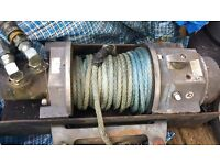 Tractor hydraulic winch 6:8pull with plasma rope quick release couplings fit any plant £800 Ono