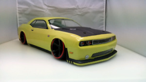 Custom painted glow in the dark 1/10 R/C Car Dodge Challenger