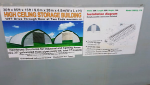 Brand new storage quonset shed covered garage building