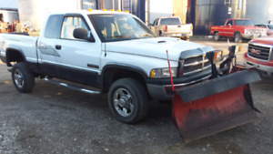 2002 Dodge 2500 4 x 4 with Plow
