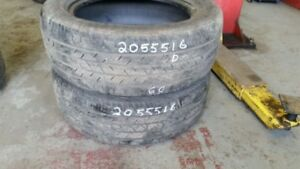 Pair of 2 Continental ContiProContact 205/55R16 tires (40% tread
