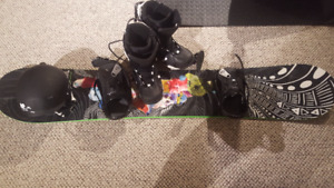 Snowboard, Boots, Bindings and Helmet