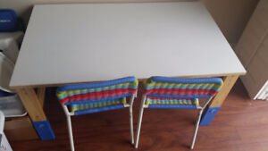 Kids study table with chairs -NEW