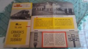 Vintage Ontario collectible books, calendar, maps, guide.