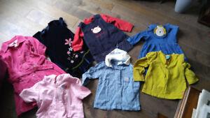 Vêtements de petite fille 18 mois 2 ans à 6 ans