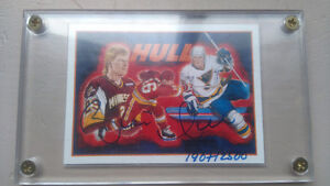 Brett hull autographed upper deck 1991 authentic
