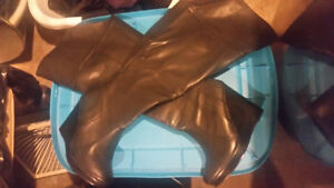 Knee high wedge boots- brand new!