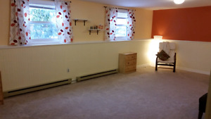 Large bright basement bedroom for rent in lovely Bedford area