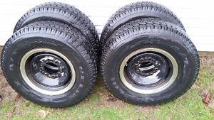 Michelin LT245/75R16 on rims