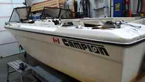 18 ft Campion boat, Highliner  trailer