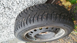 205 60 R16 studded tires with winter rims
