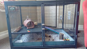 All metal cage for chinchillas, hamsters, degus, rats...