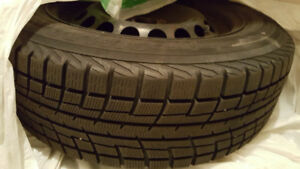 Like New! 4x100 Yokohama IceGuard Winter Tires on Rims. Honda