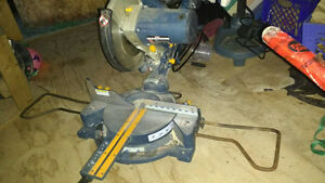 "Ryobi 10"" compound sliding mitre saw with laser"