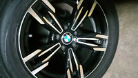 Four mags with tires for BMW X5