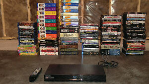 Entire Movie/TV Show collection + Blu-ray Player