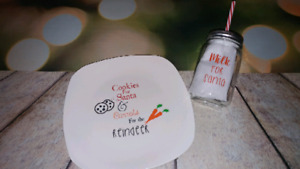 Cookies For Santa Plate and Milk Jar