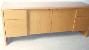 4 Drawer Office Credenza Cabinet with Key, Delivered
