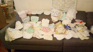 126 cloth fitted velcro diapers,liners and plastic pants