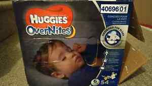 Huggies overnite diapers size 6