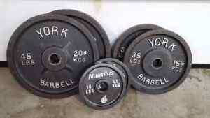 "180LBS of 2"" Olympic Weight Plates"