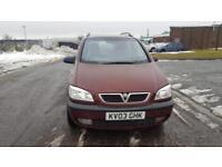 2003 03 plate Vauxhall Zafira 1.8i 16v Elegance