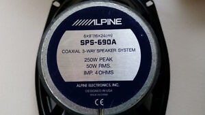 Car Speakers Alpine 3 Way Cambridge Kitchener Area image 2