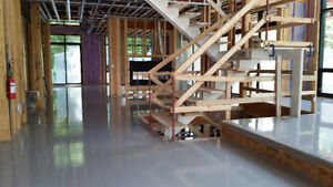Floor Leveling - Radiant Floor Heating Over Pour - Grind/Polish