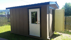 "Custom built solid wood sheds...""fully assembled tiny houses"""
