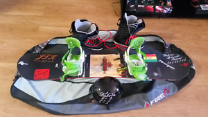 154 Firefly Rodeo snowboard and gear