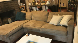Crate and Barrel Axis Sectional Couch