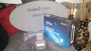 Price Reduced - New Shaw Satellite HD PVR Receiver with HD Dish!