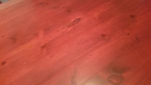 Solid Pine wood harvest farm table